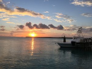 Sunset at Staniel Cay