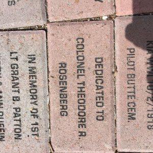 Bradley's cousin Mark dedicated this brick to Bradley's dad
