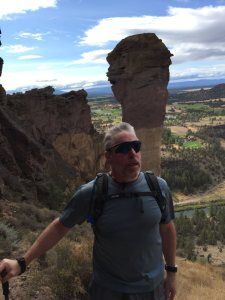 Bradley at the Monkey's Head at Smith Rock, Oregon