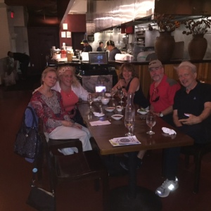 Dinner with Carlyn, Aldee, Judy, and Alan - all cousins