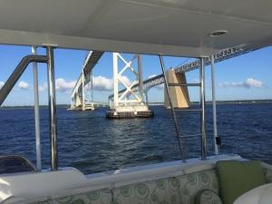 Passing under the Chesapeake Bay Bridge