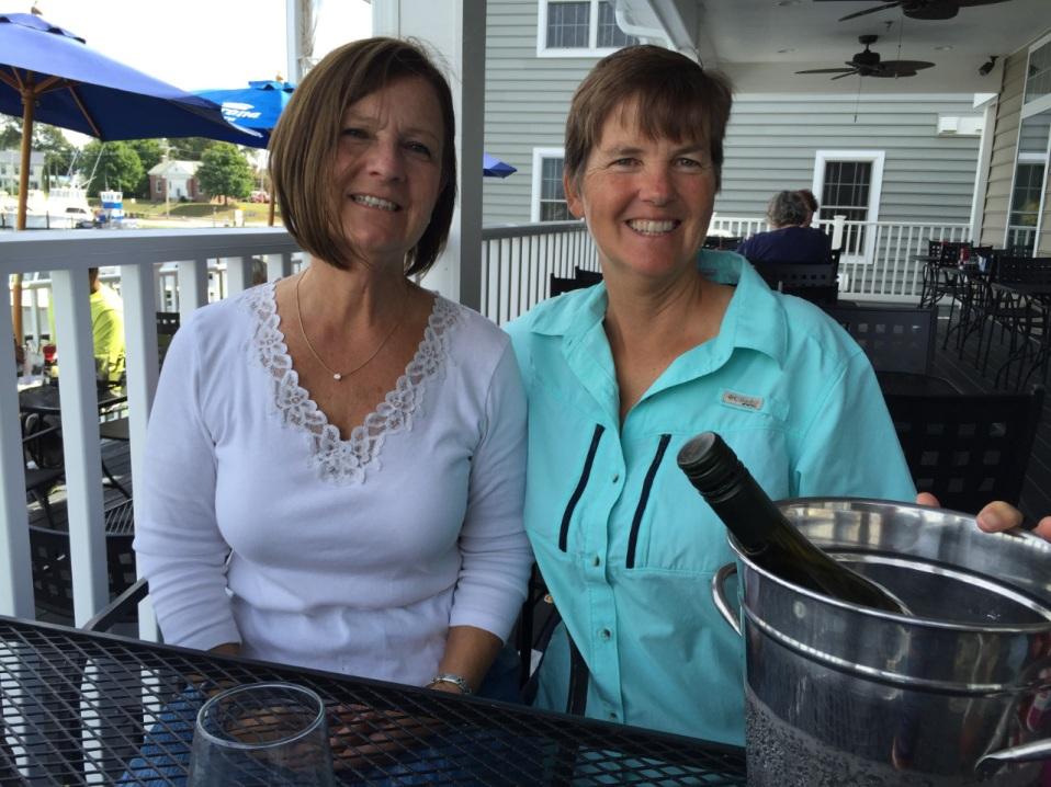 Kathy and Karen at Solomons