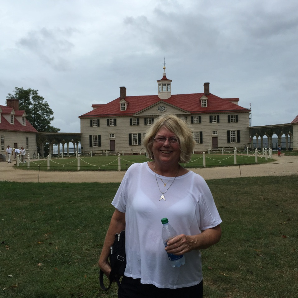 Cyndy at Mount Vernon