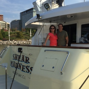 Allen and Maryann visit Shear Madness