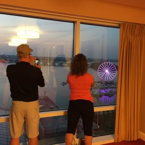 Allen and Maryann capture the view from the Gaylord Hotel