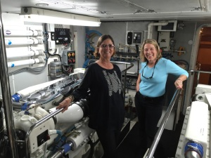 Mary Irene and Anne in the engine room
