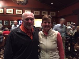 Kathy with golf buddy Larry