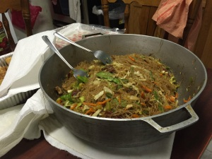 Virginia likes to cook for Bradley - this is pancit