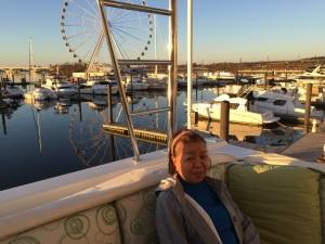 Virginia visits the boat