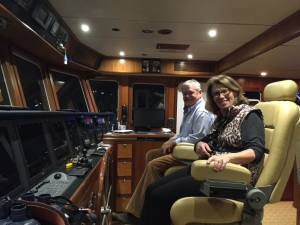 Rick and Renate in the Pilothouse