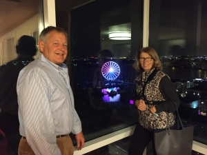 Rick and Renate on 19th floor of the Gaylord