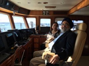 Lakhbir and Kanwal on board