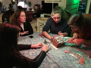Decorating a chocolate house