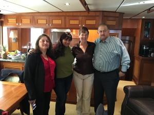 Bina, Divya, and Sudhakar with Kathy