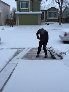 Shoveling snow in CO