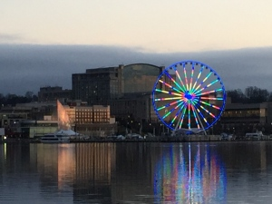 Capital Wheel at sunset
