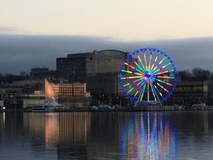 Capital Wheel at sunset