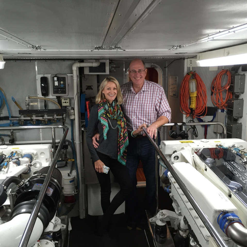 Bob and Karen in the engine room