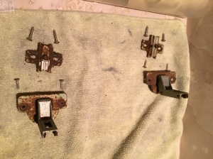 Corroded hinges