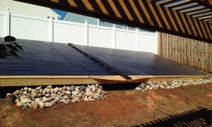Solar panels right side of house