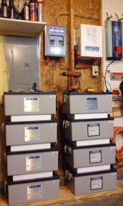 Batteries installed for testing