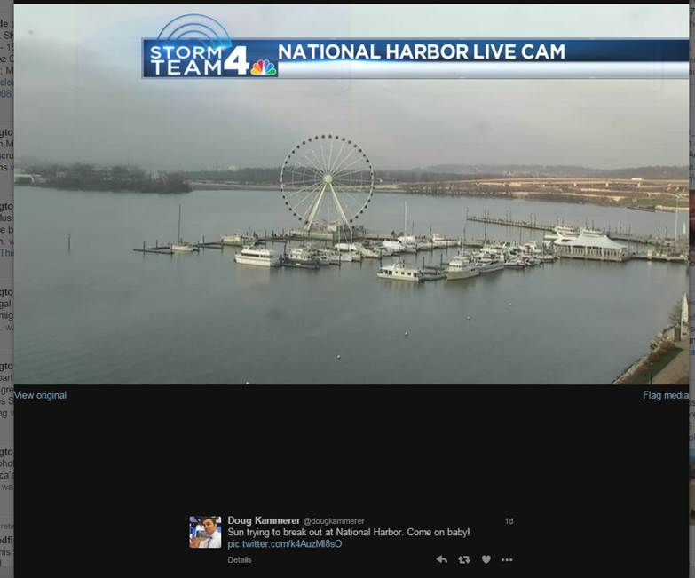 Channel 4 Weather Update with Shear Madness at National Harbor