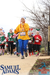 Kathy in the Ugly Sweater Run