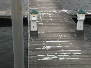A little snow on the dock in Portsmouth