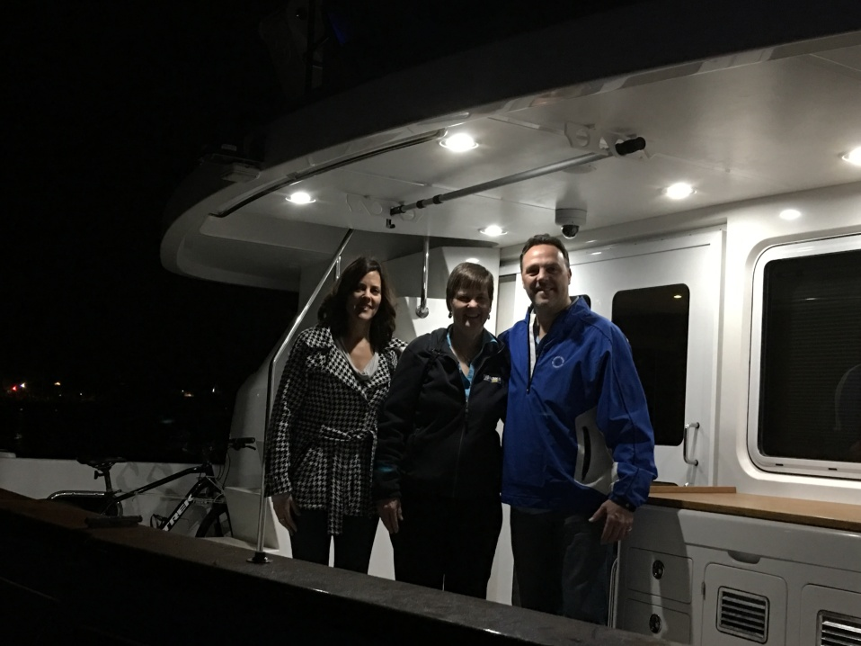 Bobby and Patti visit the boat
