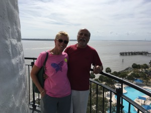 Ron and Wendy at St. Simons lighthouse