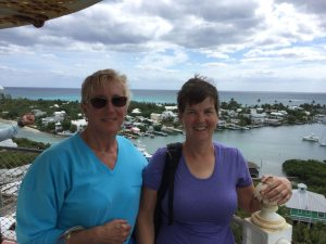 Wendy and Kathy atop lighthouse