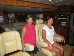 Jennifer and Jo aboard Shear Madness