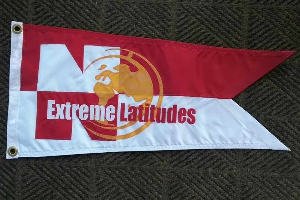 Extreme Latitudes Pennant earned for our trip to Greenland in 2014