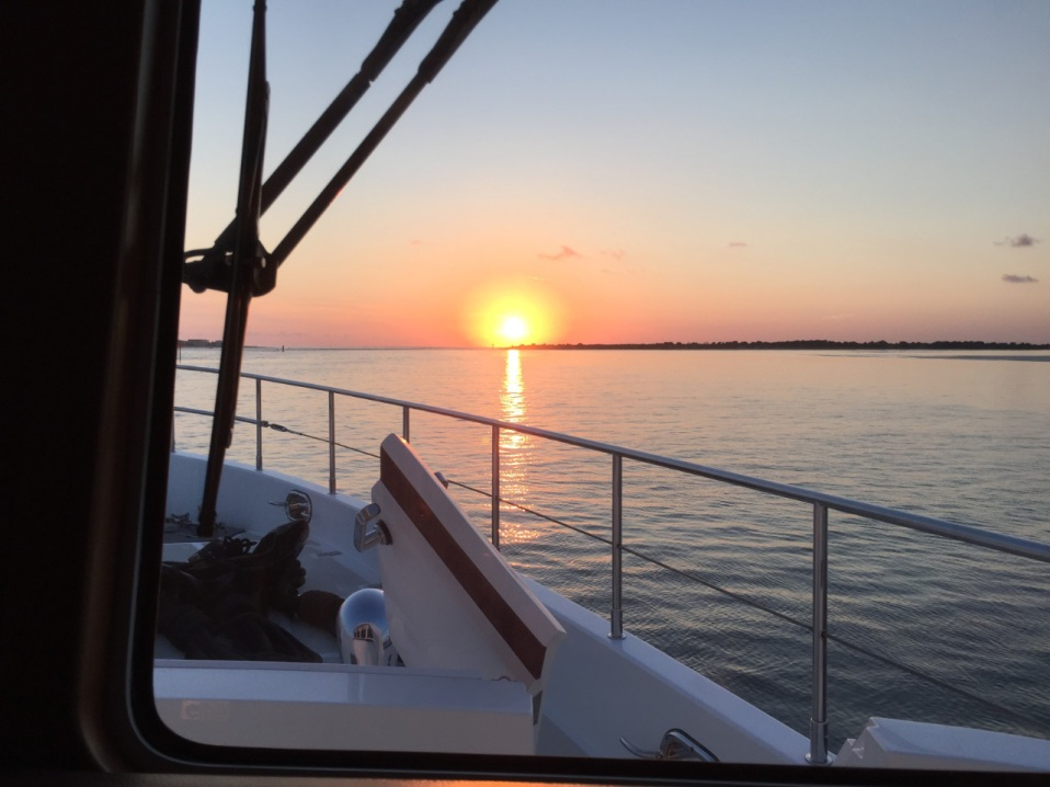 Sunrise approaching St. Augustine