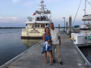 Fellow Nordhavn owners Ric and Michelle from Ghost Rider stopped in at St. Augustine.