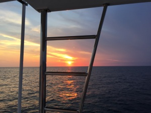 Sunset on first night out en route to Morehead City