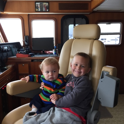 Grandsons Tyler and Austin