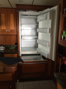 Fridge empt and turned off