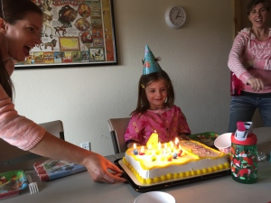 Celebrating great-niece Sophie's 4th birthday